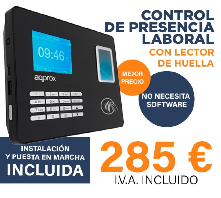 Lector Biométrico para Control de Presencia Laboral AQPROX
